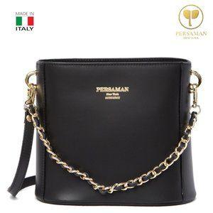 Persaman New York Livia Leather Saddle Bag
